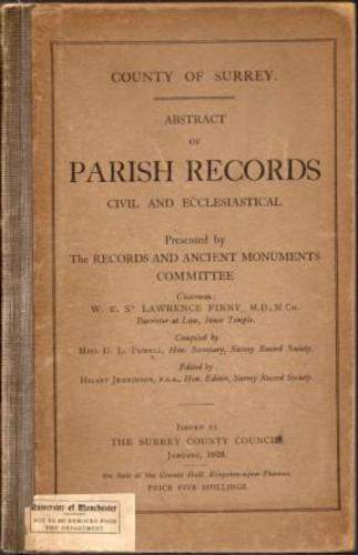 PARISH RECORDS.