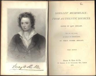 SHELLEY, Lady. (Edited by) and Percy Bysshe Shelley.