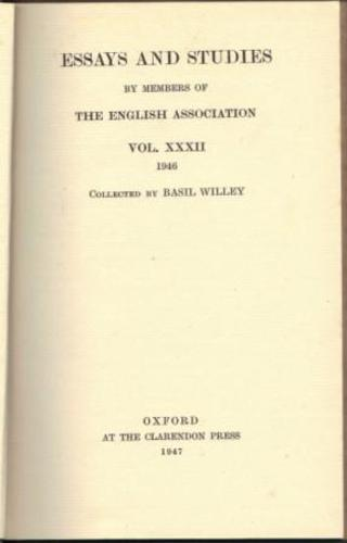 WILLEY, Basil. (Collected by).