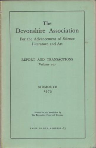 DEVONSHIRE ASSOCIATION FOR THE ADVANCEMENT OF SCIENCE LITERATURE AND ART, THE.